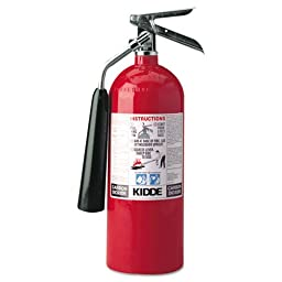 Kidde 466180 Pro 5 CD Fire Extinguisher , UL Rated 5-B:C, Carbon Dioxide, Red