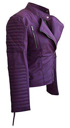 Leather Skin Women Purple Leather Jacket 2XL Purple