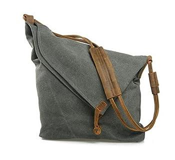 Tom Clovers Women's Men's Canvas Crossbody Messenger Shouder Handbag Tote Weekender Bag