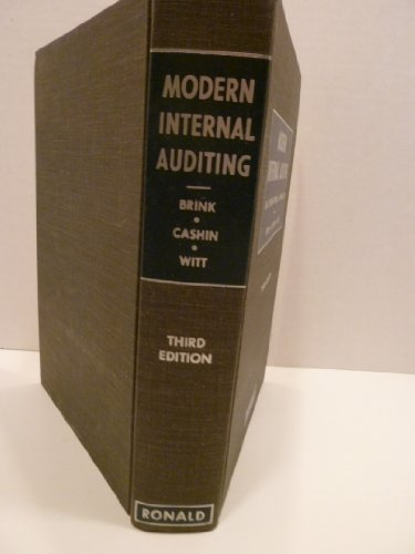 Modern Internal Auditing : An Operational Approach