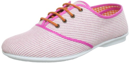 Adelheid Glücksgefühle Schnürschuh Lace-Ups Womens Pink Pink (ringel weià fuchsia 619) Size: 5 (38 EU)