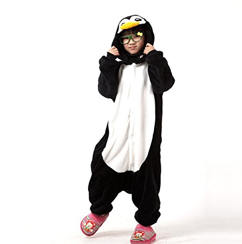 Autek Children Kid Baby Animal Unisex Onesie Fancy Dress Costume Hoodies Pajamas Sleep Wear Emperor Penguin QQ