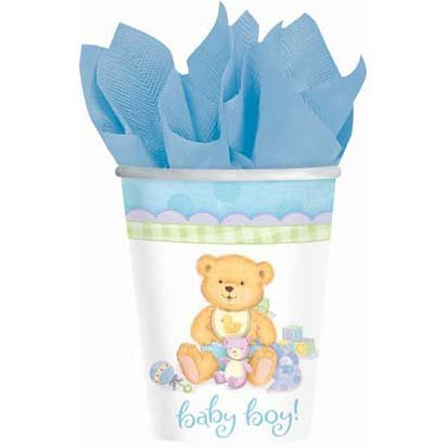Precious Bear Blue Paper Cups 8ct