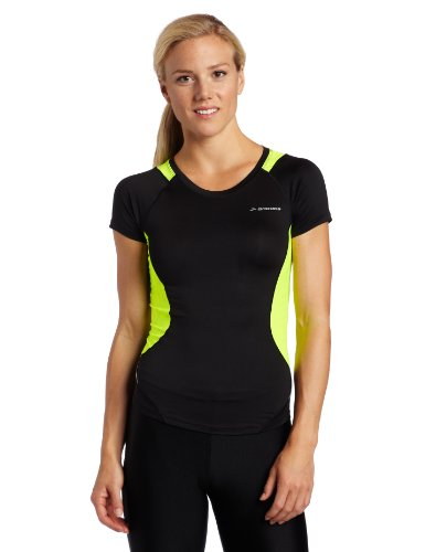 BROOKS Equilibrium Top Manica Corta Donna, Nero/Nightlife, M