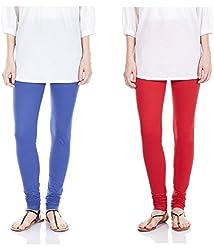 Megha Cotton Leggings Combo of 02 (LL13_Multicolour)