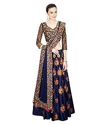 The Zeel Fashion sky blue Color Net Anarkali Salwar Suit Unstitched dress material
