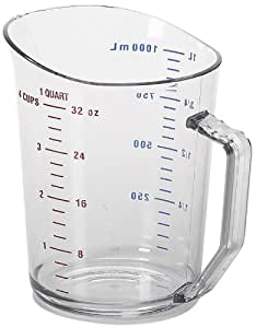 Camwear 1-Quart Polycarbonate Measuring Cup, Clear