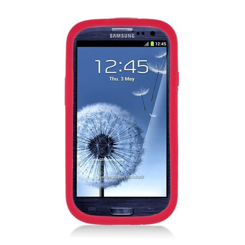 Eagle Cell Armor Skin and Hard Case with Bottle Opener and Stand for Samsung Galaxy S3 - Retail Packaging - Black/Red (Bottle Opener Case For Galaxy S3 compare prices)