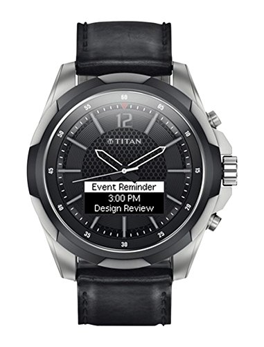 Titan JUXT Smart Analog-Digital Black Men's Watch - 9055TL01J