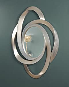 C Amp M 183 Deene 183 Silver Swirl Frame With Bevelled Oval Mirror