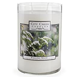 Falling Snow 22 oz. Candle by City Creek Candles