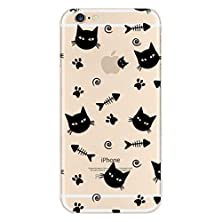 buy 6S Plus Case ,Iphone 6S Plus Case, 6S Plus Case Clear With Design, Silverback Patterned Clear Tpu Silicone Gel Back Cover Skin Soft Case With Dust Plug For Iphone 6S Plus 5.5 Inch (Kitty Fish Pattern)
