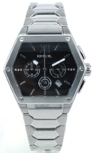 Breil Women's Watch Analogue Quartz TW0656 Silver Stainless Steel Strap Black Dial