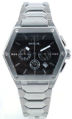 Breil Women's Watch Analogue Quartz TW0656 Silver Stainless Steel Strap Black Dial
