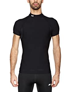UnderArmour Men's EU CG SS Mock - Black, Small
