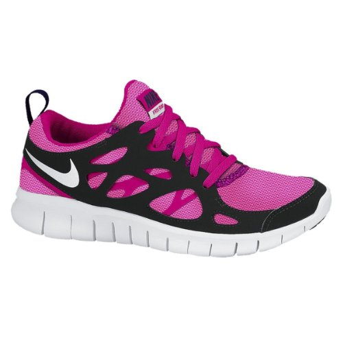 ФОТО Nike Free Run 2 LE Kids Running Shoe Vivid Pink/White-Pink/Glow-Black