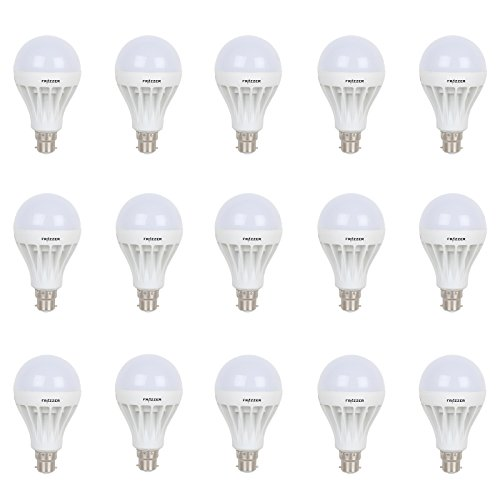 9 W LED Bulb (White, Pack of 15)