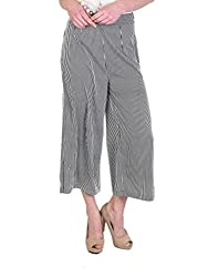 STRIPED FLARE TROUSERS