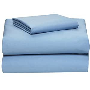 extra long twin sheet set light blue home kitchen. Black Bedroom Furniture Sets. Home Design Ideas