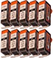 10 Ersatz CHIP Patronen kompatibel zu Canon PGI-525 Schwarz