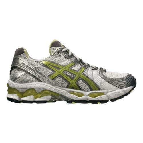 ASICS Women's GEL-Kayano 17 Running Shoe,Snow/Lime/Lightning,9 M US