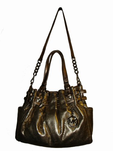 Women's Michael Kor's Large Shoulder Tote (Genuine Leather) (Bronze)