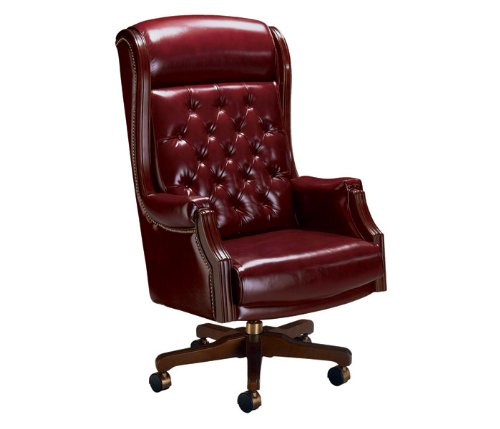 La Z Boy Traditional High Back Leather Judge's Chair