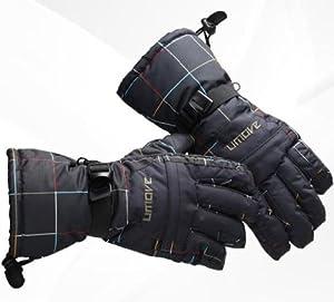 【EMSO】スキー・スノーボード 防寒・防水グローブ 手袋 メンズ L (ブラック)