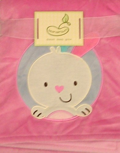 2 Ply Blanket Crib Throw Pink Love Hugs Kisses with Peace Signs