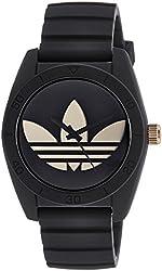 adidas Unisex ADH2912 Santiago Black Watch with Silicone Band