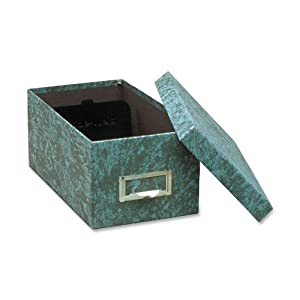 Globe-Weis Fiberboard Index Card Storage Box, 4 x 6 Inches, Green (94 GRE)