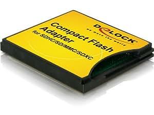 DeLOCK SDXC/SDHC/SDカードをCFカードTypeIIに変換するアダプター【61796】国内正規代理店日本語パッケージ品