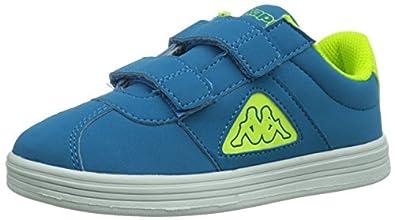 Kappa GORDON LIGHT K Footwear Kids, Synthetic, Unisex-Kinder Sneakers, Mehrfarbig (6040 BLUE/YELLOW), 25 EU (7.5 Kinder UK)