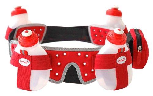 FuelBelt FuelBelt Helium 4 Bottle Belt, Red, Small