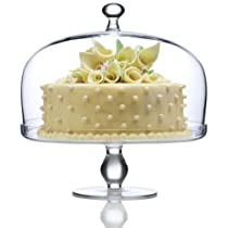 Footed Cake Plate with Dome Cover