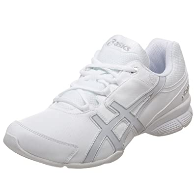 ASICS Women's GEL-Comp Cheerleading Shoe,White/Pearl/Silver,8 B US