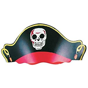 12 Cardboard Pirate Hats for Birthday Party Favors Dress-up Costume from Rhode Island Novelty