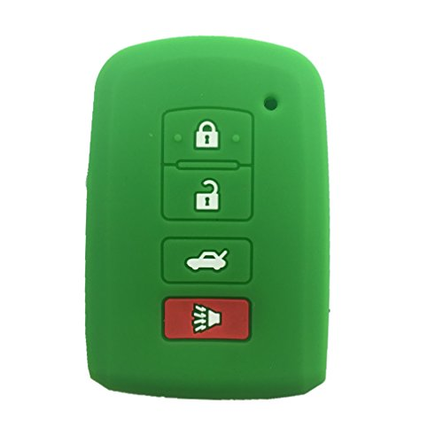 New Green Silicone 4 Buttons Smart Key Cover Case Holder for 2012 2013 2014 2015 Toyota Avalon Camry RAV4 (2015 Toyota Rav4 Key Cover compare prices)