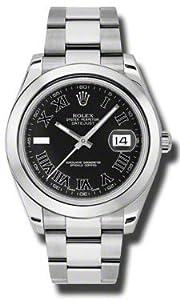 NEW Rolex Datejust II 41MM Stainless Steel Black Oyster Mens watch 116300 BKRIO