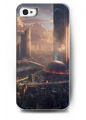 Ouo Stylish Series Case For Iphone 4 4S 4G With The Design Of Modern City From Future