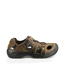 Teva Men\'s Omnium Sandal,Brown,9 M US