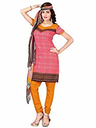Mahiyar Charming Pink Printed Dress Material With Dupatta