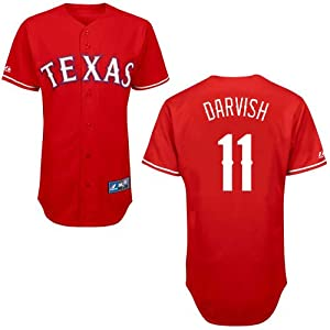 Yu Darvish Texas Rangers Alternate Red Replica Jersey by Majestic by Majestic
