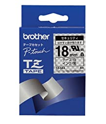 Brother Adhesive Tape Security,18MM, Black/White ( TZSE4 )