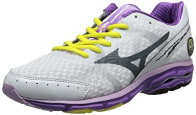 Mizuno Women's Wave Rider 17 D Running Shoe,White,8.5 D US