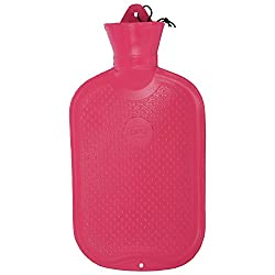 Hot Water Bag of Natural Rubber design Plain-Plain with Metal Fitting 2 Liter