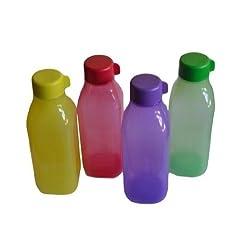Tupperware Aquasafe Square Bottle Set, 500ml, Set of 4