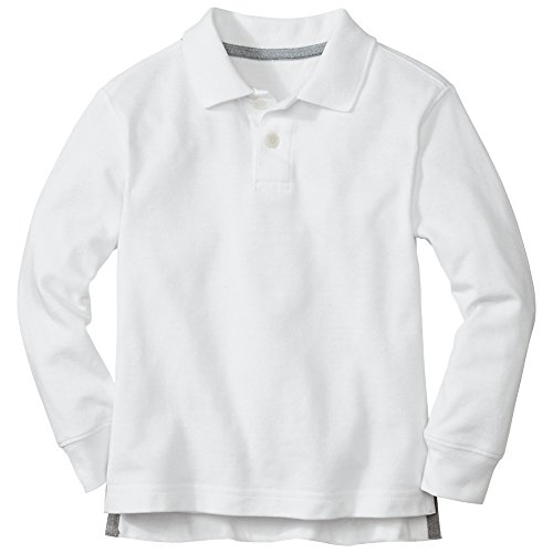 Hanna Andersson Big Boy Classic Polo Shirt In Organic Cotton, Size 140 (10), White front-920739