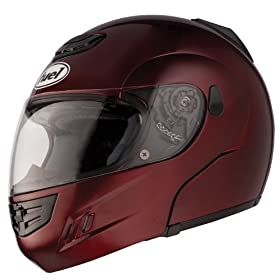 Fuel SH-M10045 Wine Medium Triple Vented Modular Full Face Helmet