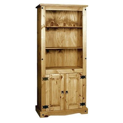 Corona Pine Bookcase with Two Doors